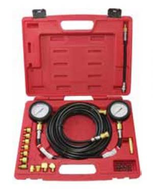 Универсальный набор, манометр с адапторами, для измерения давления масла в трансмиссии 22 пр