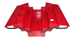 Ящик для инструмента, металлический, раскладной, 3х-уровневый, 535х210х260мм.