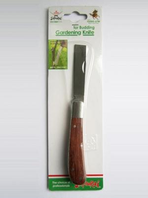 Нож прививочный, складной, нержавеющий. L=173мм (73мм прямое лезвие+100мм ручка)