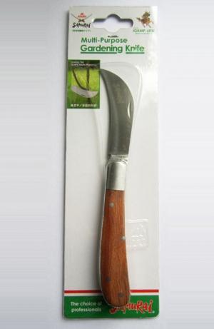 Нож прививочный, складной, нержавеющий. L=170мм (70мм изогнутое лезвие+100мм ручка)