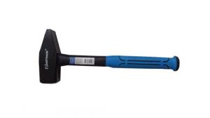 Молоток Механика 1000г с прямым, кованым,  бойком и фибергласовой, голубой ручкой