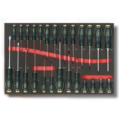 2262 Набор плоских, крестовых PH и Torx отверток в мягком ложементе 26 предметов