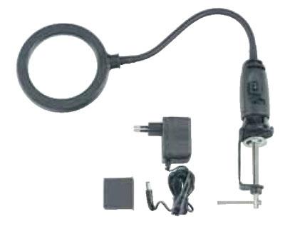 Настольная лупа с 14 диодной подсветкой с электро адаптором