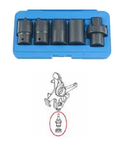 """1/2"""" Набор зубчатых головок для привода КПП мотоциклов Mercedes 5пр."""