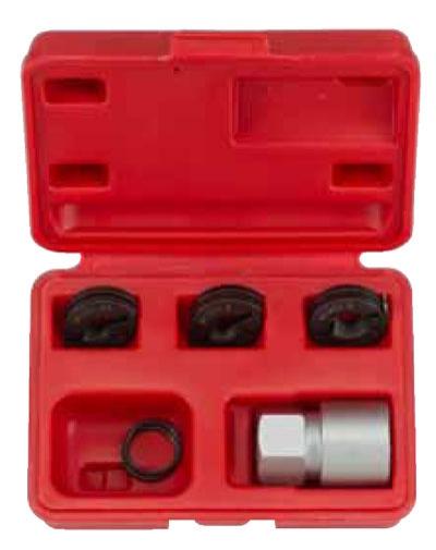Набор для восстановления резбы на колёсных шпильках М12х1,25/1,5; М14х1,5. 5 пр