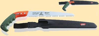 Пила с самоочищающимся, прямым полотном L= 270мм шаг 4мм, в чехле, с поясным креплением.