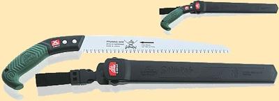 Пила с прямым полотном L=300мм шаг 4мм в чехле, с поясным креплением.