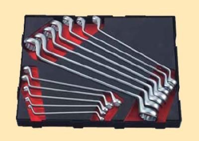 Набор накидных 75гр ключей 6х7-30х32, 12 предметов