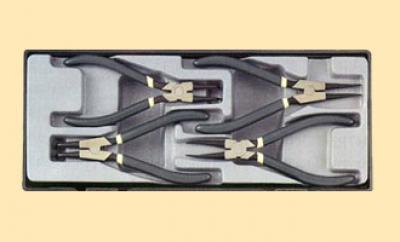 Набор сжимов-разжимов стопорных колец 4пр. (шт.) в ложементе
