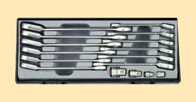 Набор накидных трещоточных ключей c переходниками под головку 16предметов в ложементе