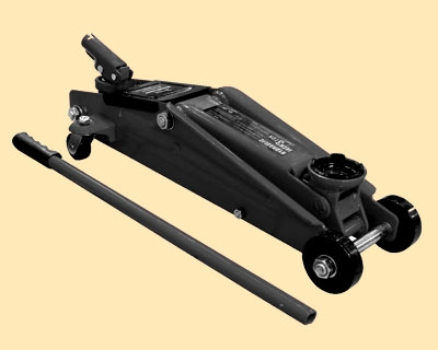 Домкрат подкатной (3 т) Н130-410 мм с вращающейся рукояткой.