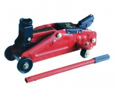 Подкатной домкрат 2т, Н=128-330мм, с ручкой для переноски, в кейсе
