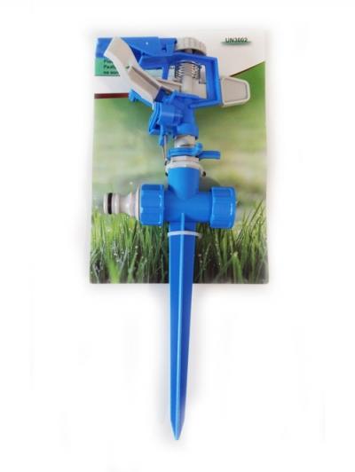 UN-3002 Поливочный разбрызгиватель импульсный, секторно круговой, на пластиковом колышке