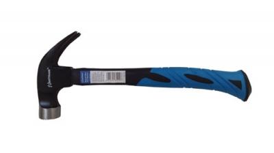 Молоток Плотника 560г с гнутым гвоздодёром, кованым, магнитным бойком и фибергласовой ручкой