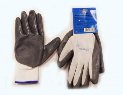 UN-N001-9 Перчатки универсальные (серо/белые), с полиуретановым покрытием. р-9