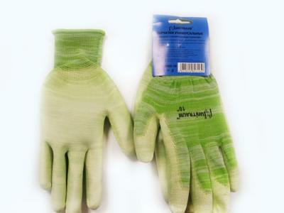 UN-P002-9 Перчатки универсальные (зеленые), с полиуретановым покрытием. р-9