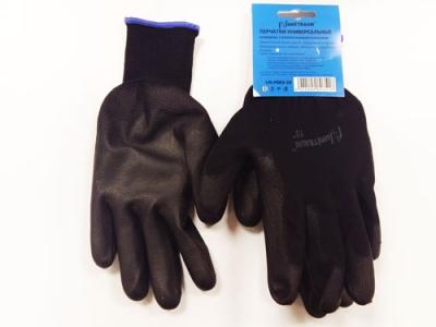 UN-P003-10 Перчатки универсальные (черные), с полиуретановым покрытием. р10