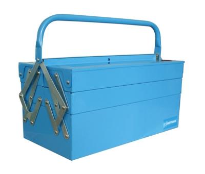 Ящик инструментальный, раскладной, 3 уровня. с 1 ручкой
