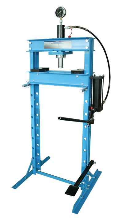 Пресс гидравлический 20т. высокий, с насосом и гидропоршнем  с манометром (ход185мм)