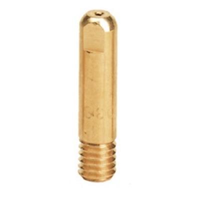 Наконечник медный, токопроводящий (контактная трубка) для сварочной проволоки D=0,8мм.